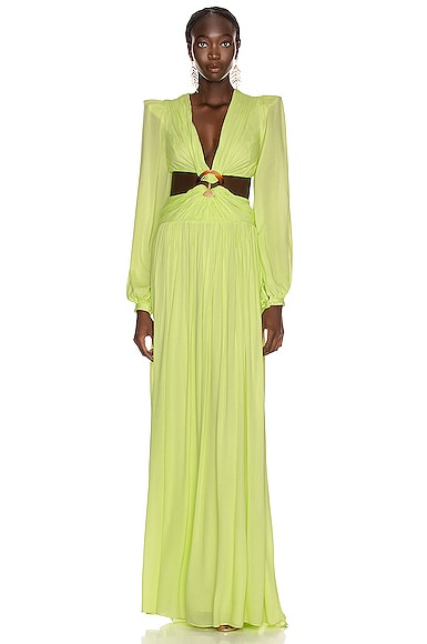 for FWRD Neon Cutout Gown