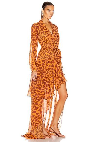 PATBO Maxi dresses MARGOT HI LOW MAXI WRAP DRESS
