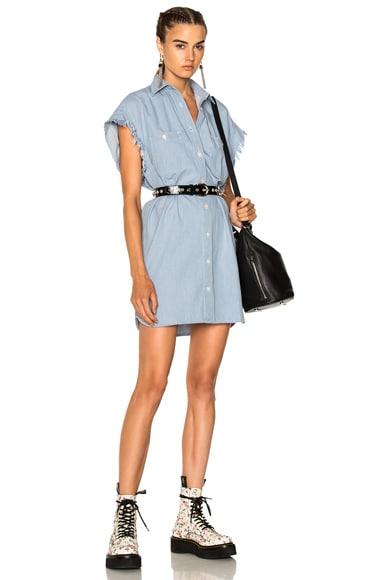 Oversized Sleeveless Shirt Dress