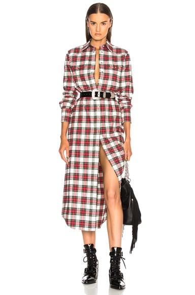 Long Cowboy Shirt Dress