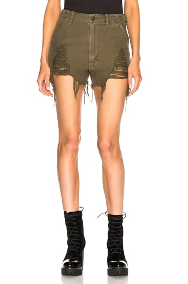 Distressed Camp Shorts
