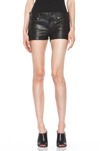 5 Pocket Leather Short