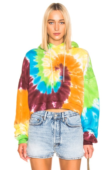 for FWRD Cropped Rainbow Hoodie
