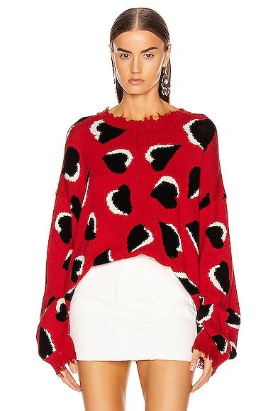 Hearts Oversized Sweater