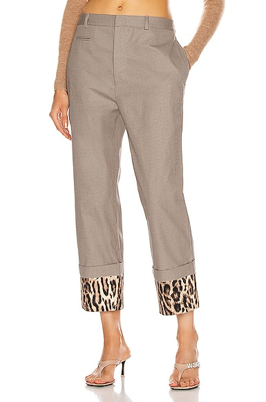 R13 PANTS WITH FOLDOVER CUFF