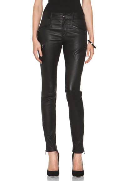 Leather Biker Zip Pant
