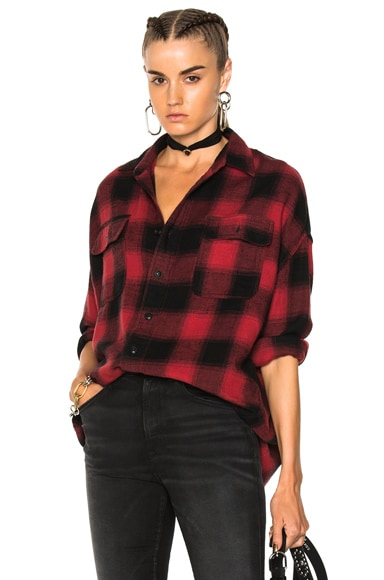 X Oversized Plaid Shirt