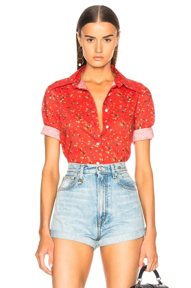 Exaggerated Collar Shirt