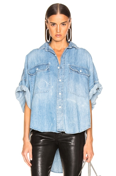 Patti Oversized Short Sleeve Shirt