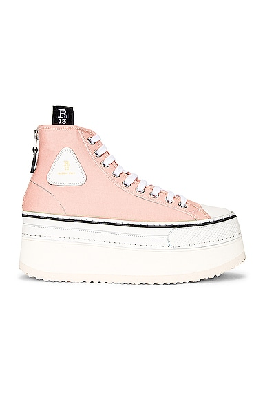 R13 Canvases PLATFORM HIGH TOP SNEAKER