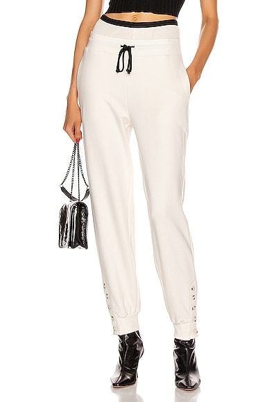Contral Terry Double Waist Jogger