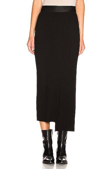 Framed Rib Strap Skirt