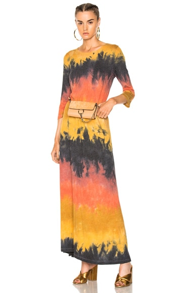 3/4 Sleeve Drama Maxi Dress