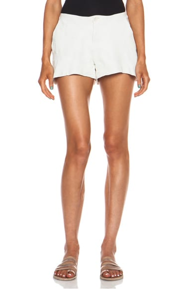 Linen & Leather Shorts