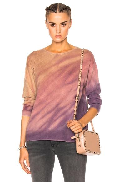 Crop Sleeve Boxy Crew Sweater