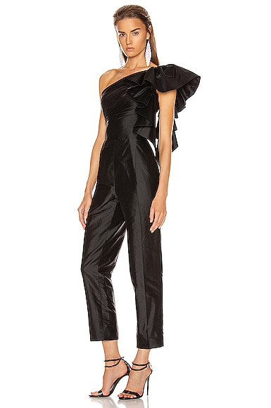 Ruffled One Shoulder Jumpsuit
