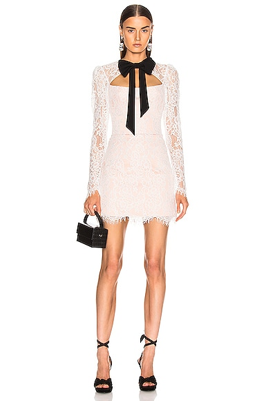 Lace Corset Mini Dress with Bow