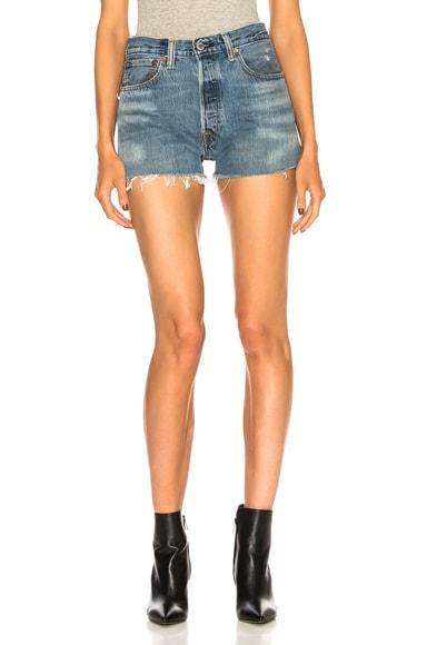 Side Zip Levi's Denim Short