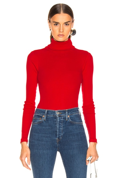 Rib Turtleneck Bodysuit