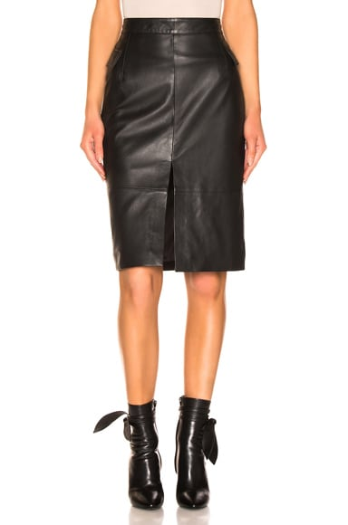 Maine Knee Leather Skirt