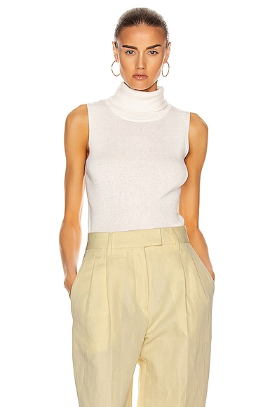 Mantova Sleeveless Roll Neck Top