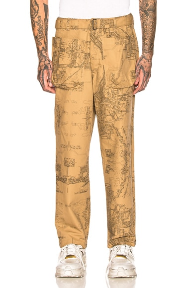 Wide Leg Patch Pocket Trousers by Reese Cooper