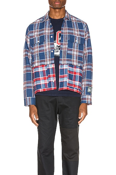 Double Layered Flannel Shirt