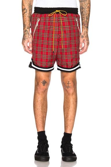 Plaid Basketball Shorts