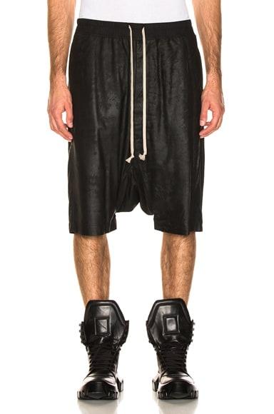 Leather Pod Shorts