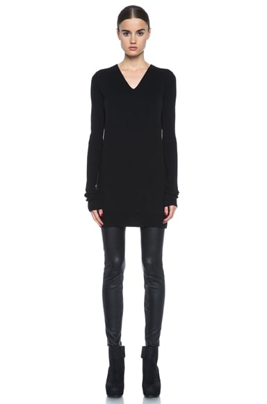 Wool Long V Neck Sweater