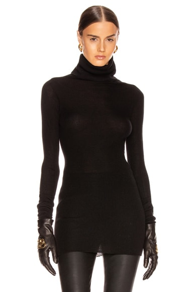 Ribbed Long Sleeve Tube Top