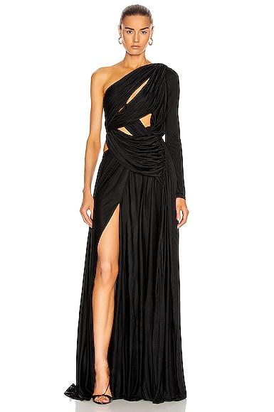 Long Dress Asymmetrical Gown