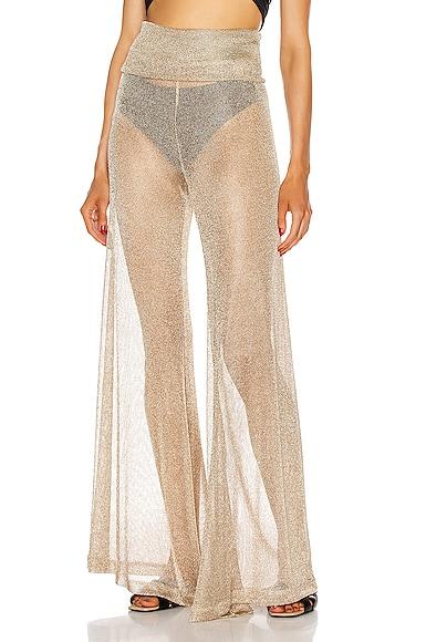 Net Draped Waist Pants