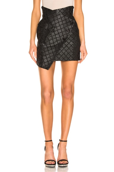 Asymmetric Check Skirt