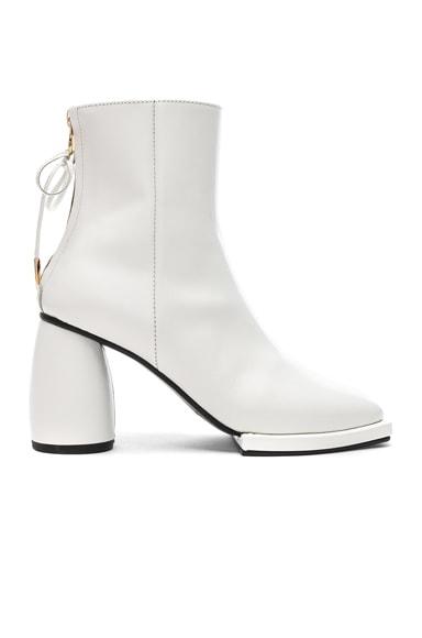 Square Ribbon Half Boots