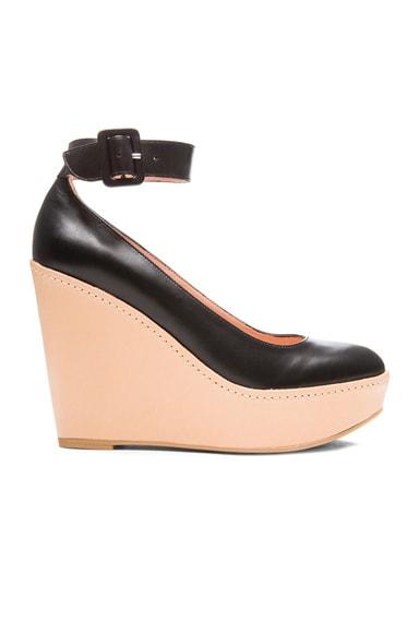Ferdie Leather Wedge Heels