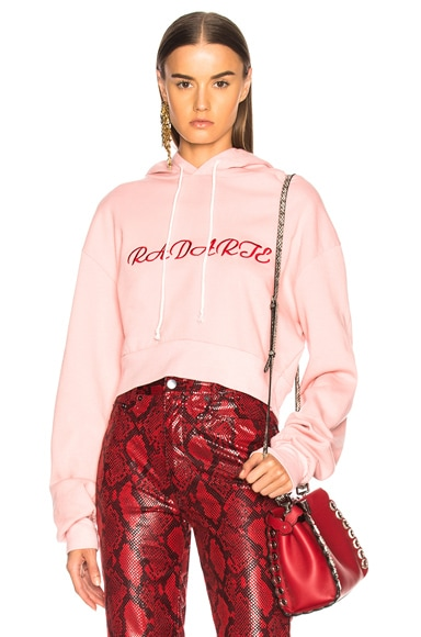 Radarte LA Embroidery Cropped Hoodie