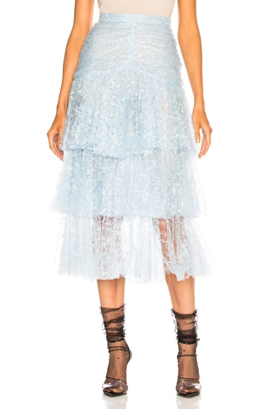 Tulle Three Tier Ruffle Skirt