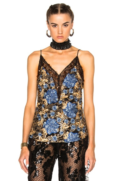Embroidered Floral Lace Camisole