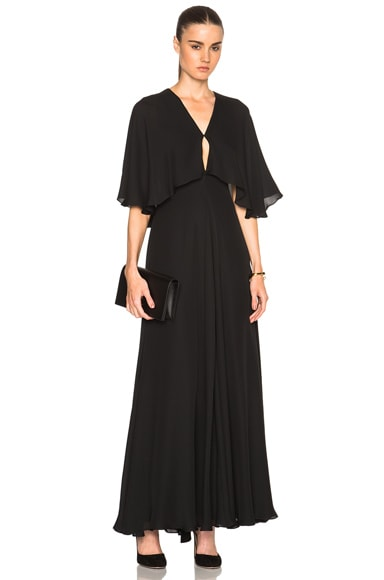 Silk Double Georgette Gown