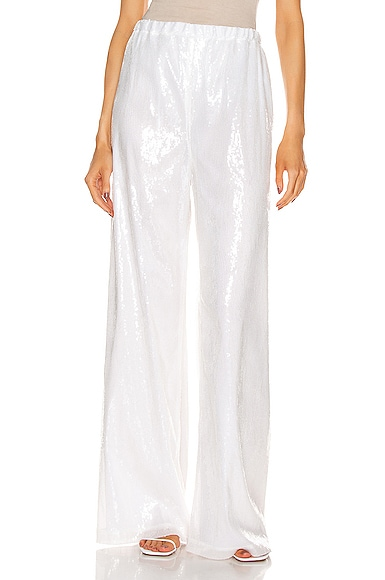 Drawstring Sequin Straight Leg Pant