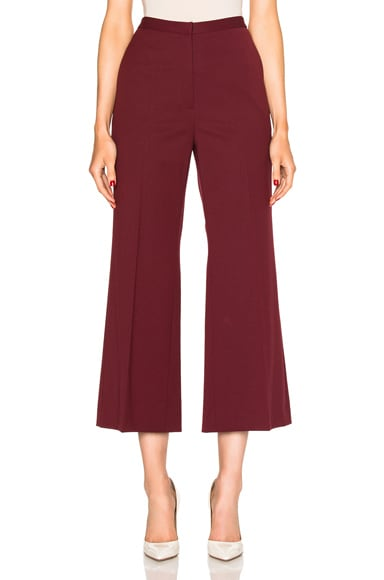 Cropped Straight Flare Pant