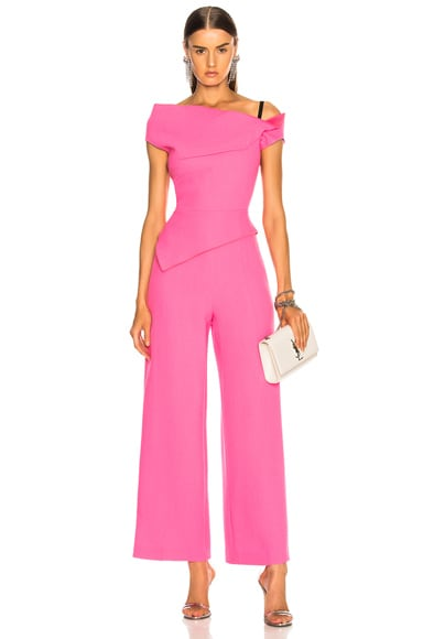 Gable Double Wool Crepe Jumpsuit