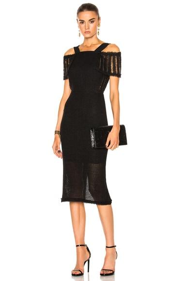 Sinclair Linen Mesh Dress
