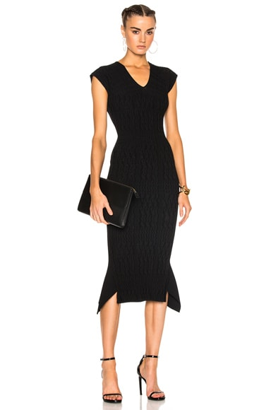 Stockcross Wave Rib Viscose Knit Dress