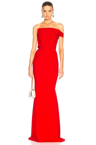 Lockton Double Wool Crepe Gown