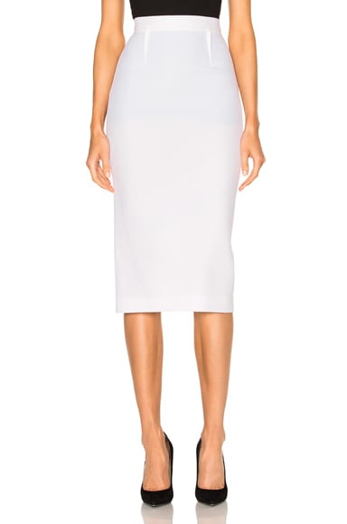 Arreton Double Wool Crepe Skirt