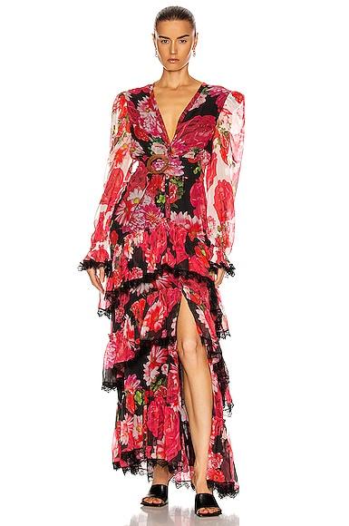 ROCOCO SAND Viola Maxi Dress in Multi | FWRD
