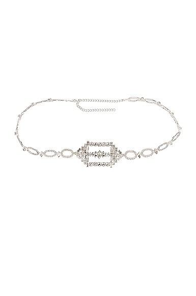 Hexagon Buckled Chain Belt