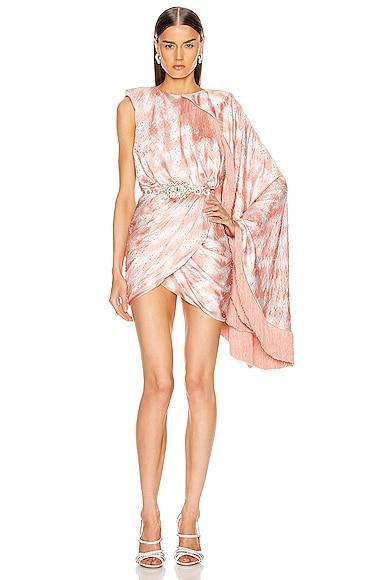Zig Zag Wrapped Mini Dress